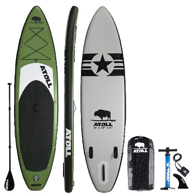 Atoll 11 Foot Inflatable Stand Up Paddle Board - Package